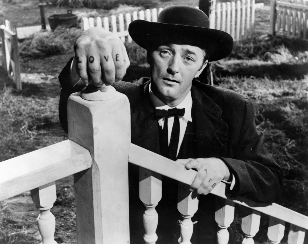 Robert Mitchum as preacher Harry Powell in The Night of the Hunter (1955)