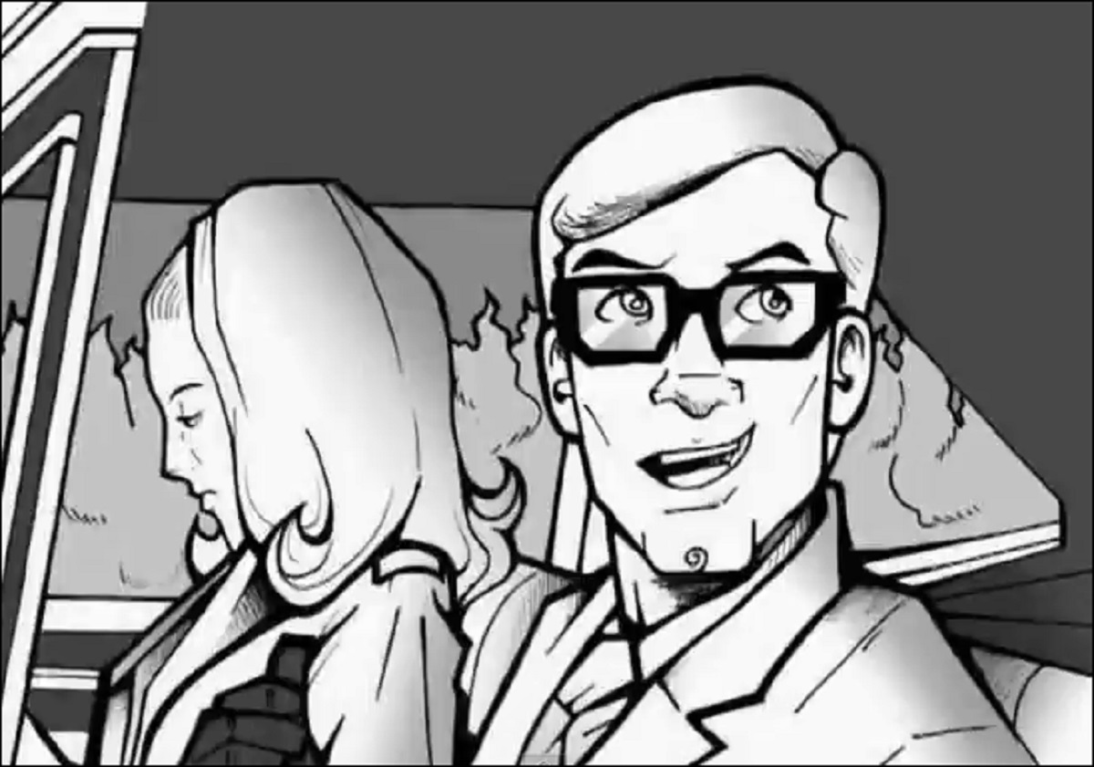 Barbara and Johnny arrive at the cemetery - animated recreation of the opening scene in Night of the Living Dead Reanimated (2009)