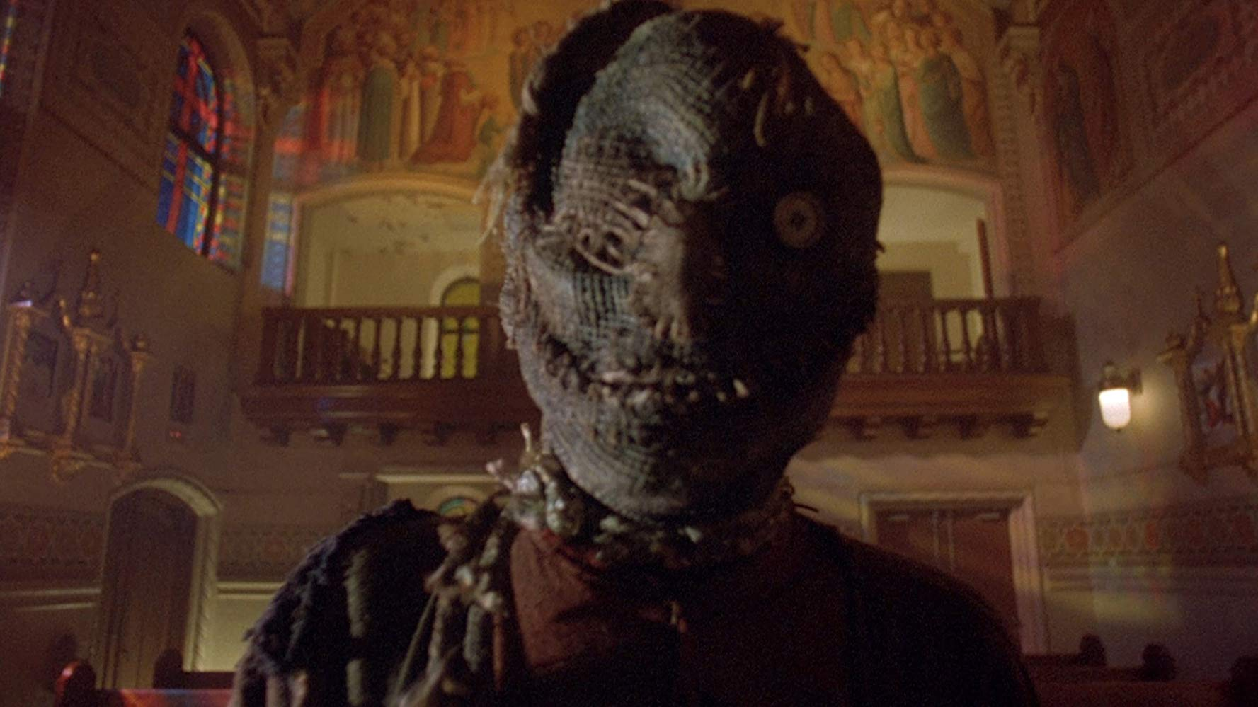 The possessed scarecrow in Night of the Scarecrow (1995)