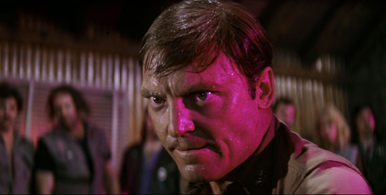 Colonel Hudson Kane (Stacy Keach) tries to make sense of the men in the asylum under his command in The Ninth Configuration (1980)