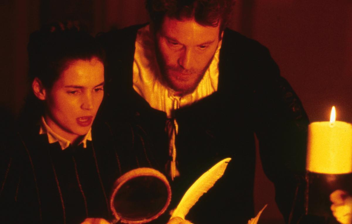 Tcheky Karyo as Michel de Nostradamus with Julia Ormond as his wife Marie in Nostradamus (1994)