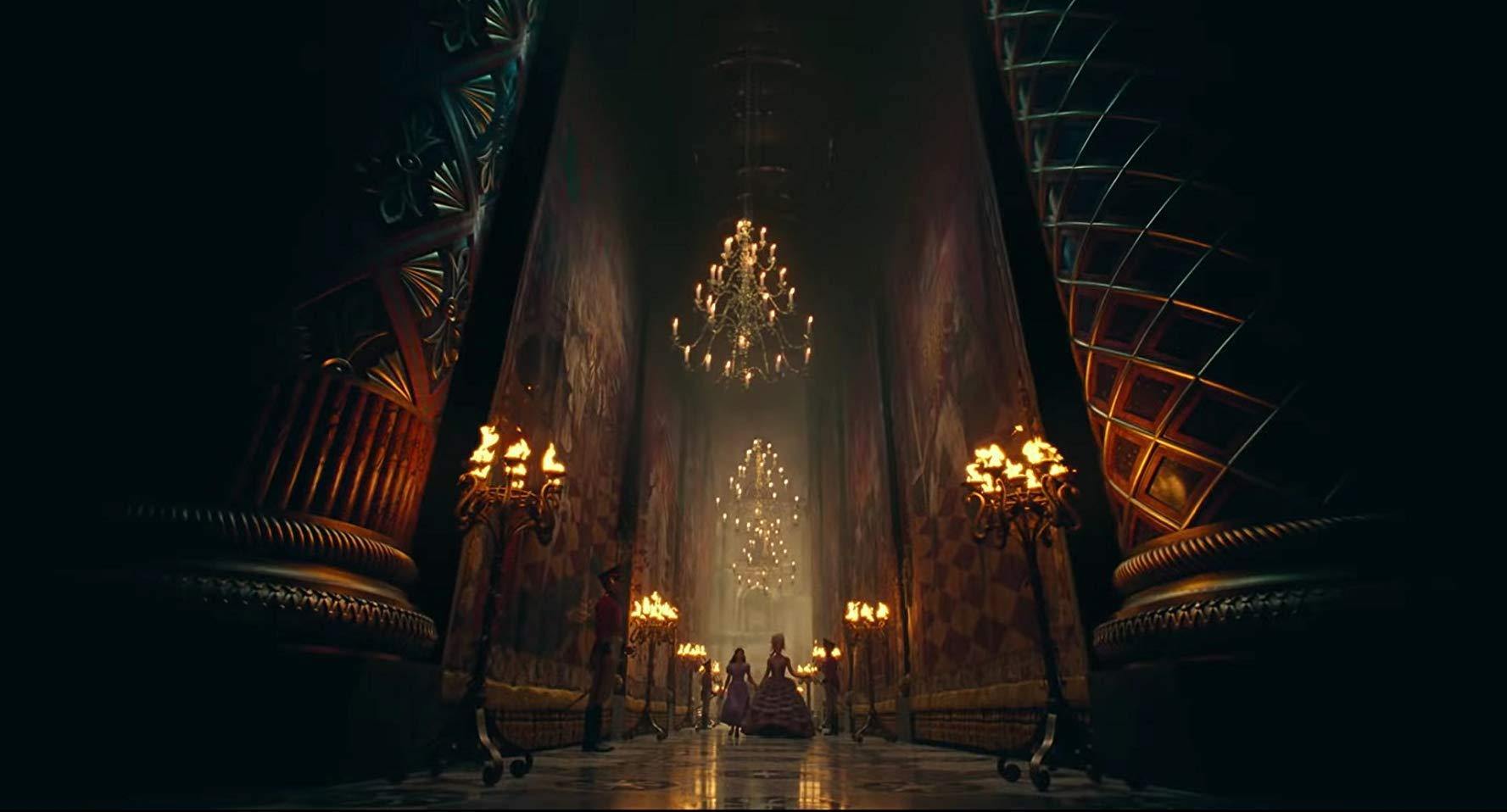 The hallways of the palace in The Nutcracker and the Four Realms (2018)