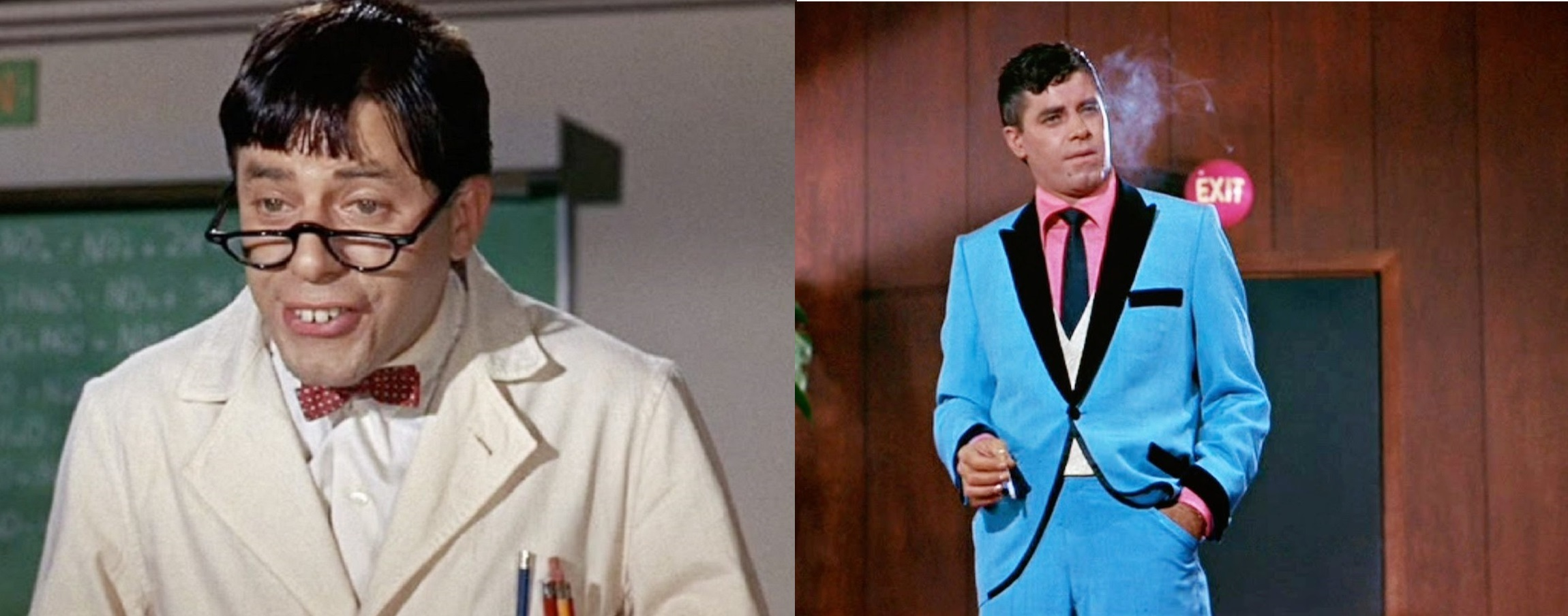Jerry Lewis as Professor Julius Kelp and Buddy Love in The Nutty Professor (1963)