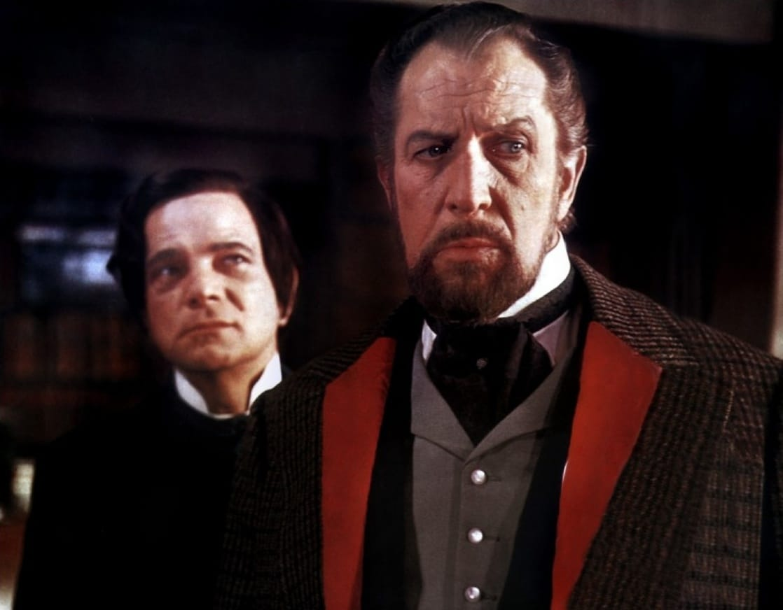 Peter Arne and Vincent Price in The Oblong Box (1969)