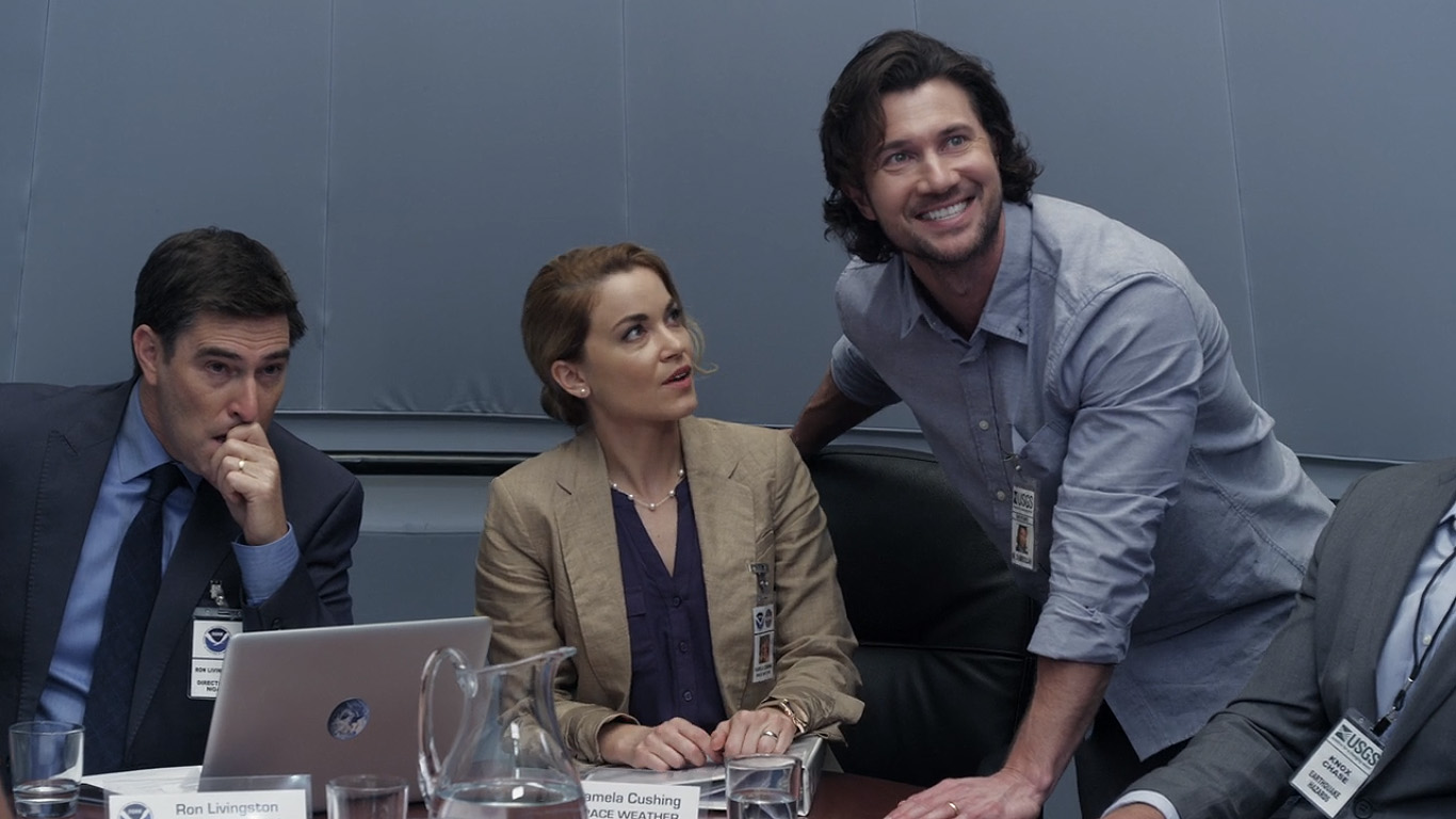 (l to r) Roy Abramsohn, Summer Spiro and her husband Jason Tobias in Oceans Rising (2017)