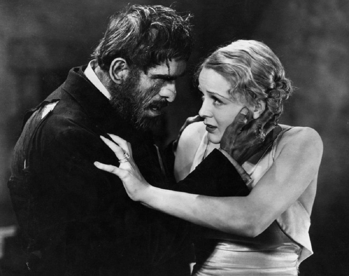 Boris Karloff as the butler Morgan menaces Gloria Stuart in The Old Dark House (1932)
