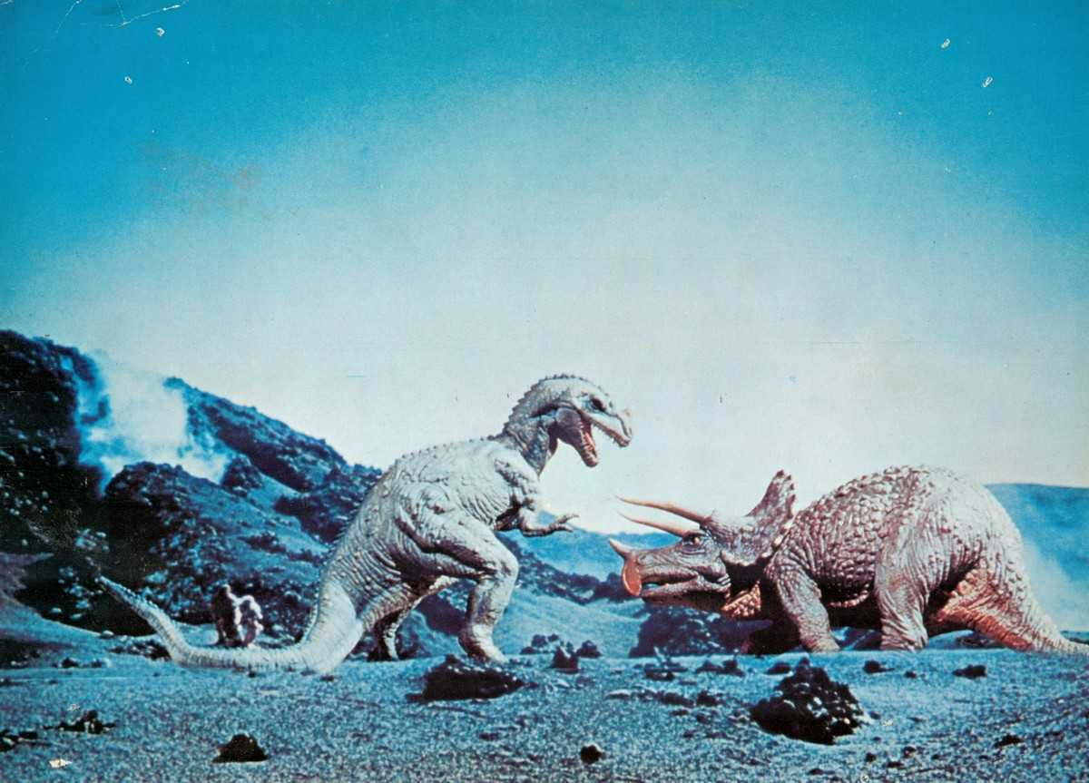 Ray Harryhausen's stop-motion animated dinosaurs in One Million Years B.C. (1966)