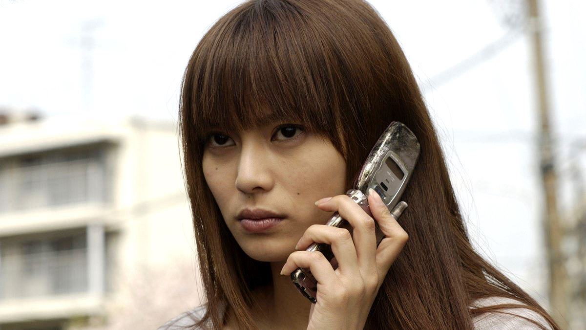 Ko Shibasaki on the receiving end of haunted cellphone calls in One Missed Call (2003)