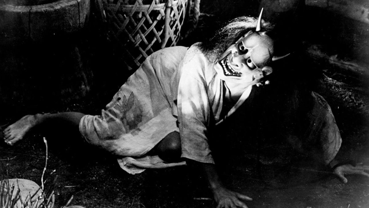 Nobuko Otawa in the demon mask in Oni Baba (1964)