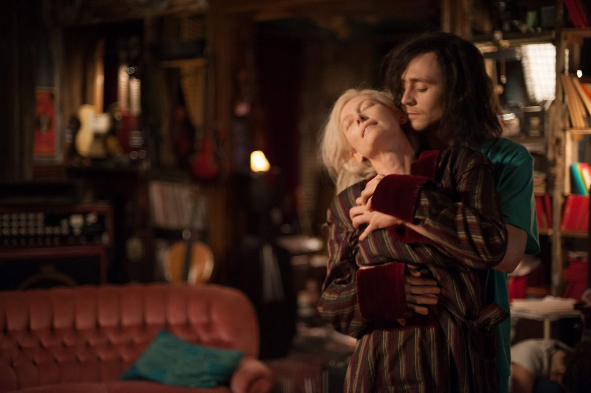 Vampire lovers Eve (Tilda Swinton) and Adam (Tom Hiddleston) in Only Lovers Left Alive (2013)