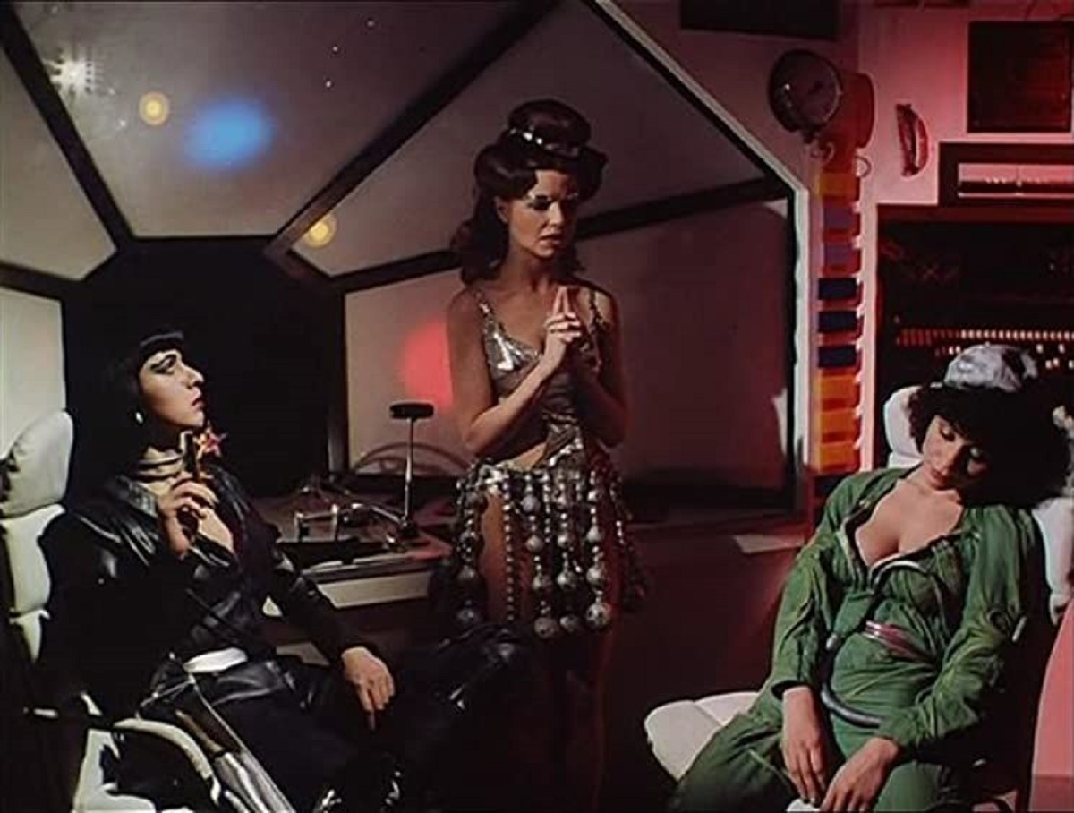 The three alien women - Kate Ferguson, Glory Annen and Ava Cadell in Outer Touch/Spaced Out (1979)