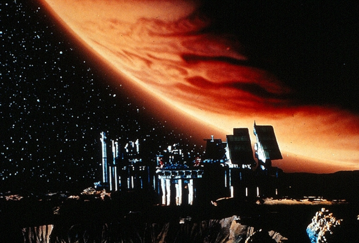 Con-Am 7 station on Jupiter's moon Io in Outland (1981)