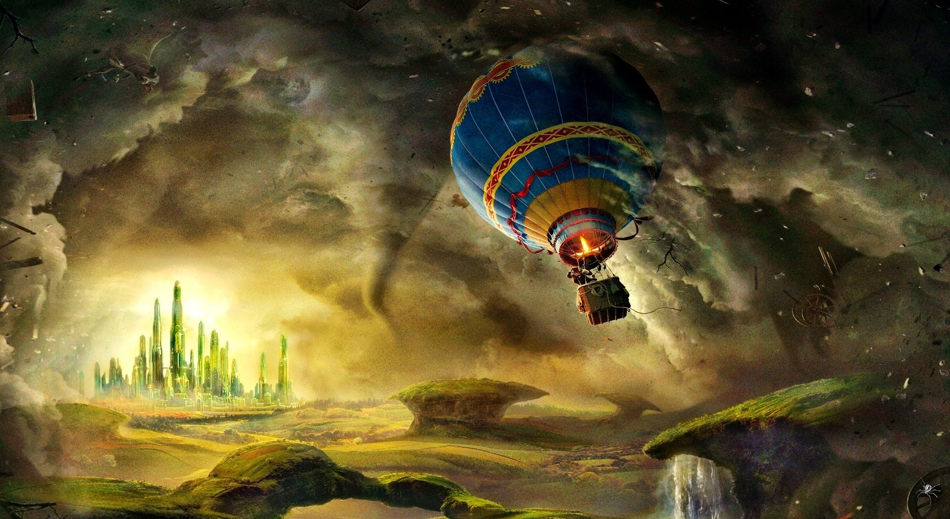 Balloon journey to Oz in Oz: The Great and Powerful (2013)