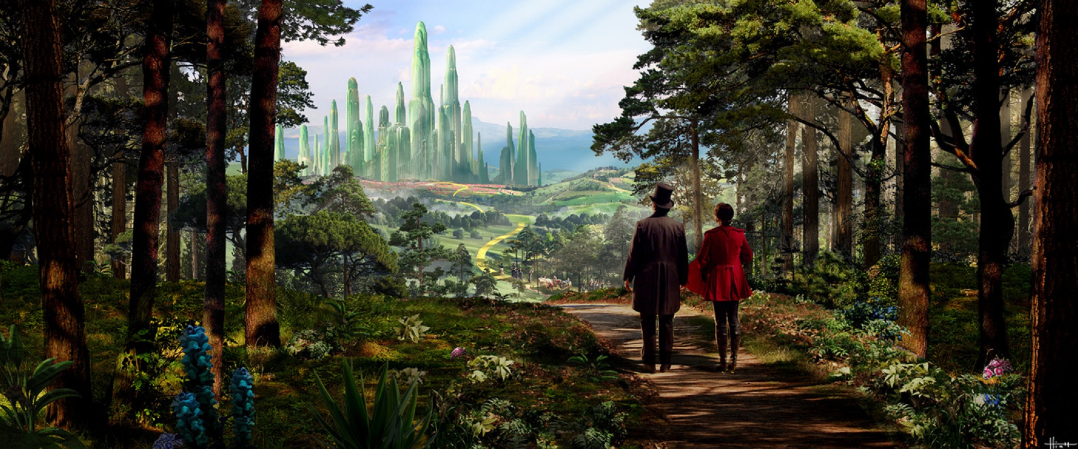 Towards the Emerald City - Oz and Theodora in Oz: The Great and Powerful (2013)