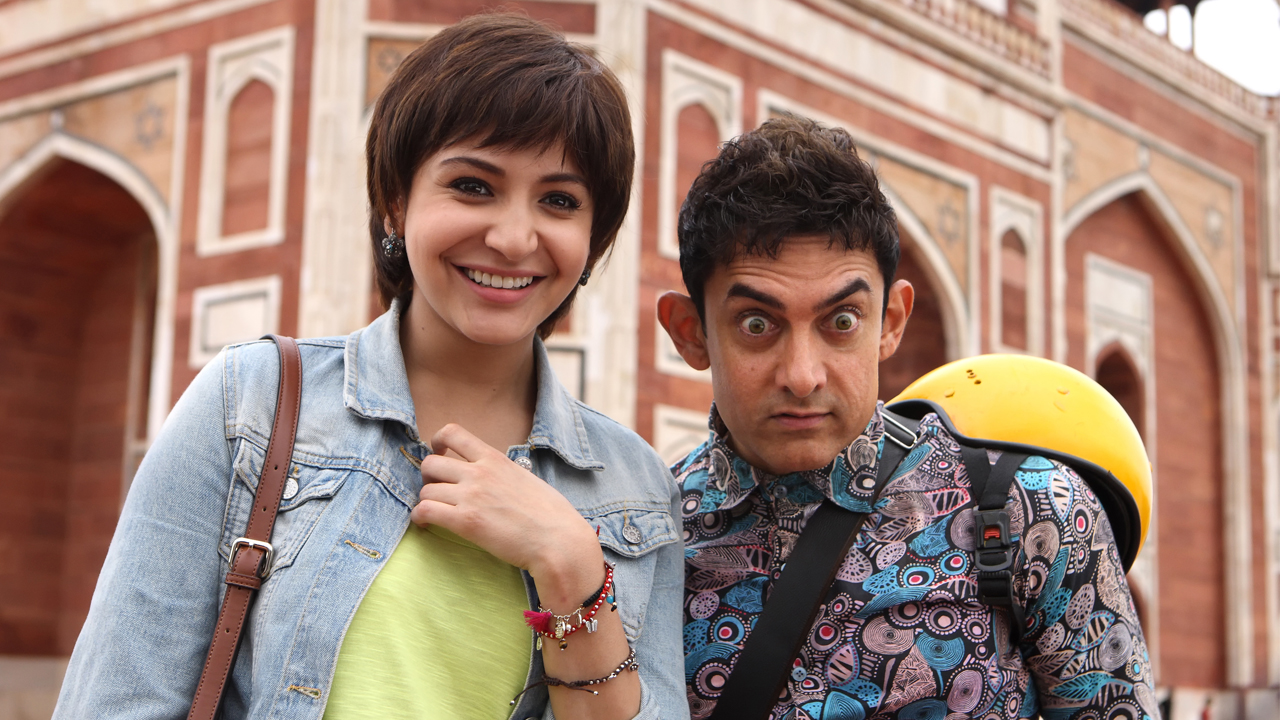 Anushka Sharma and Aamir Khan as the alien visitor PK