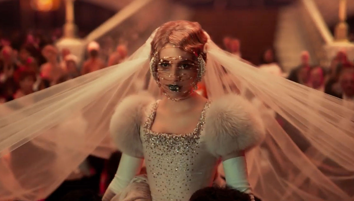 Emma Roberts at her wedding ceremony in Paradise Hills (2019)
