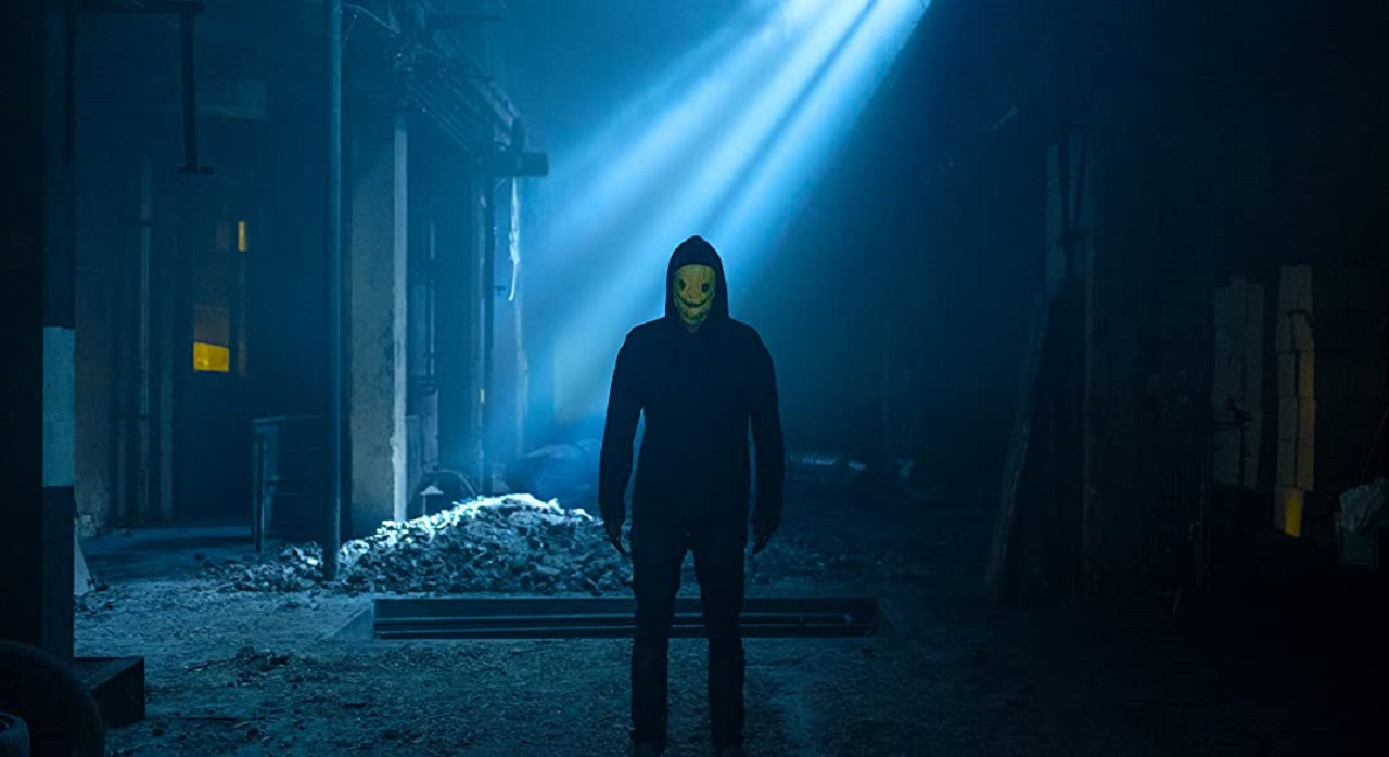 The masked killer lurks in Party Hard, Die Young (2018)