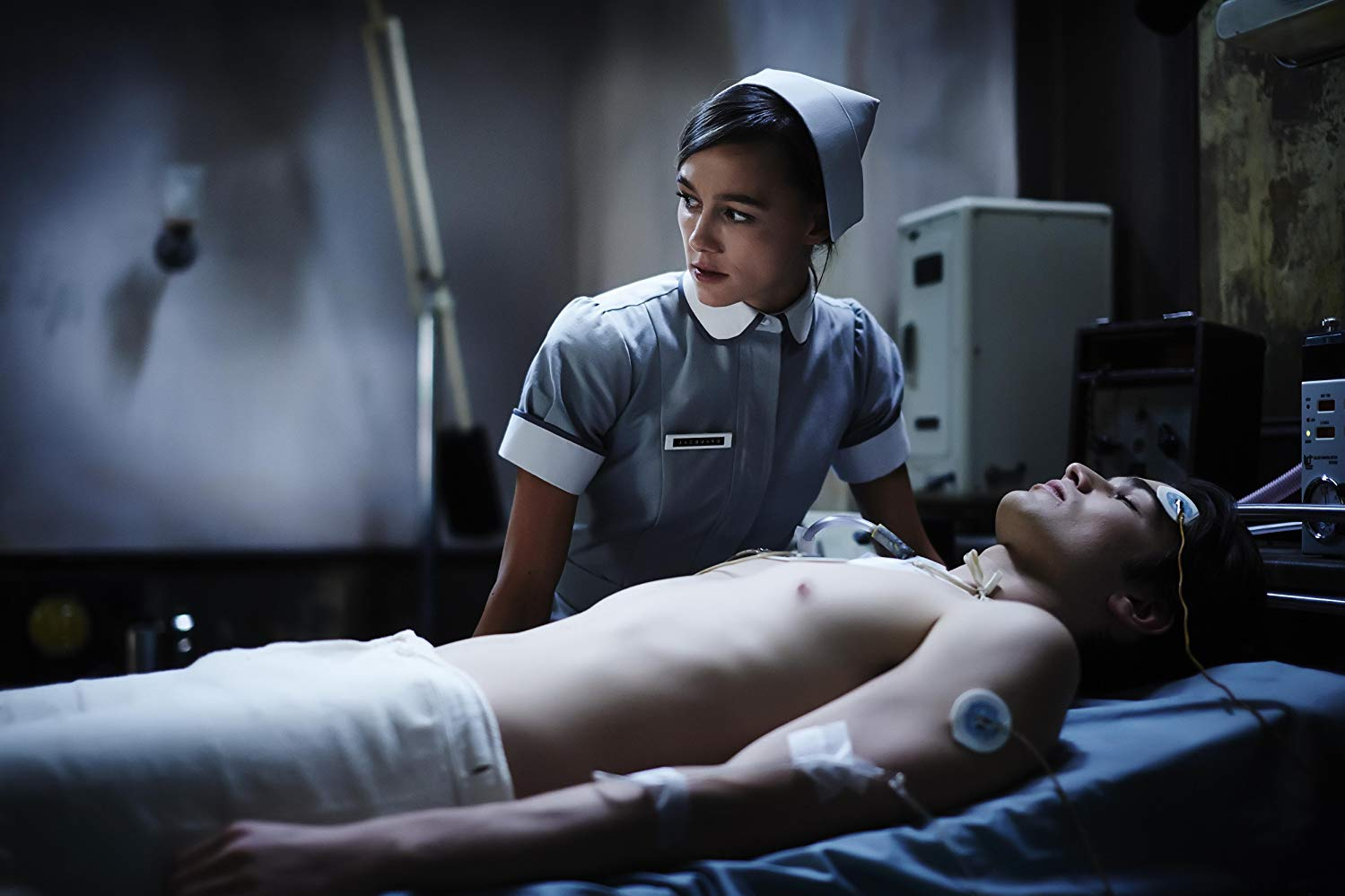 Nurse Sharni Vinson tends the comatose Patrick (Jackson Gallagher) in Patrick (2013)