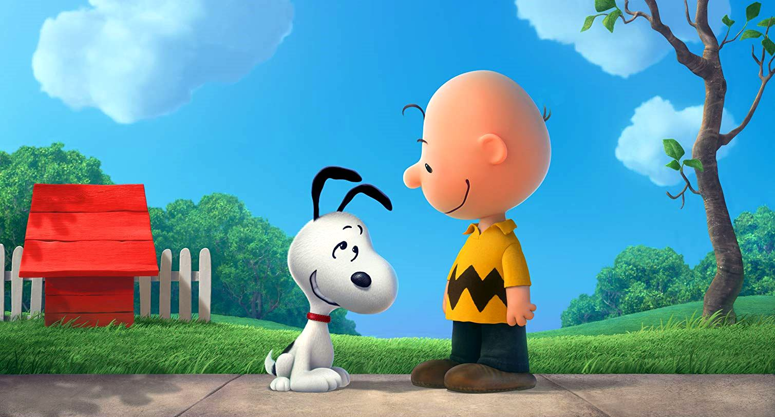 Charlie Brown (voiced by Noah Schnapp) and his dog Snoopy (voiced by Bill Melendez) in The Peanuts Movie (2015)