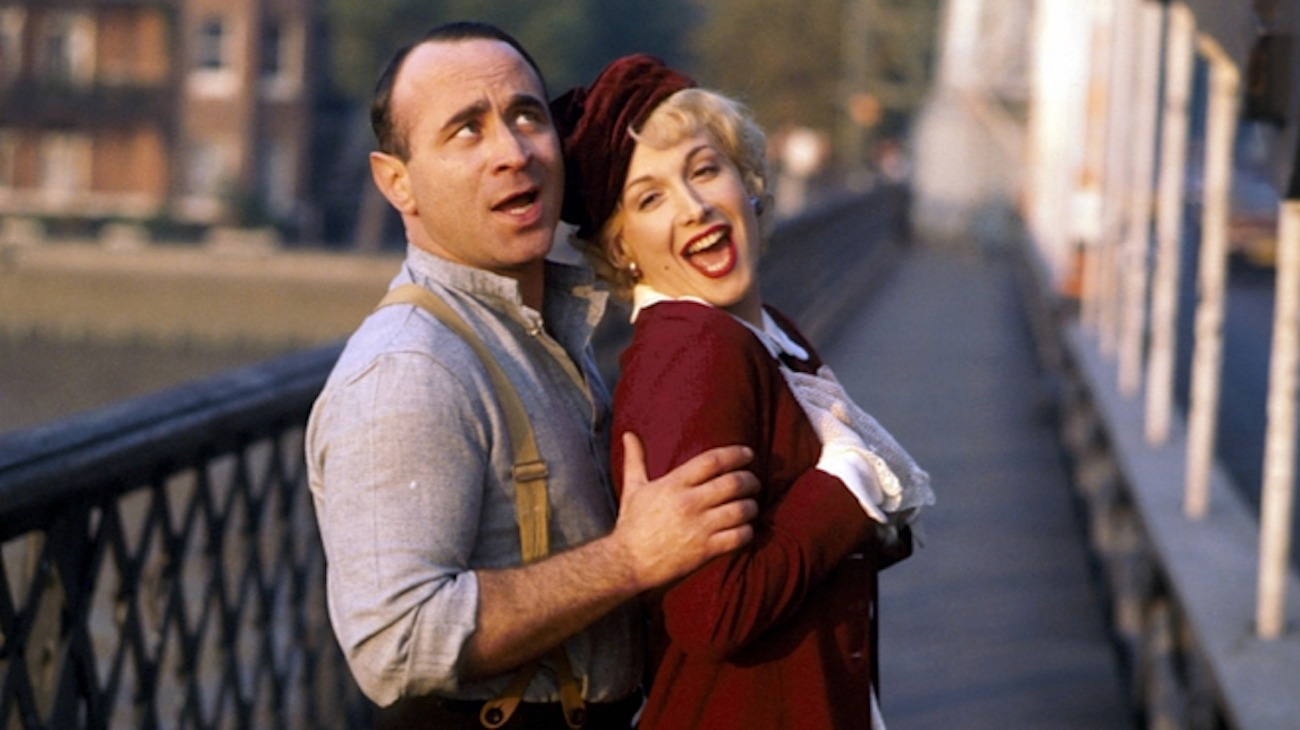 Bob Hoskins and Cheryl Campbell burst into lip-synched song in Pennies from Heaven (1978)