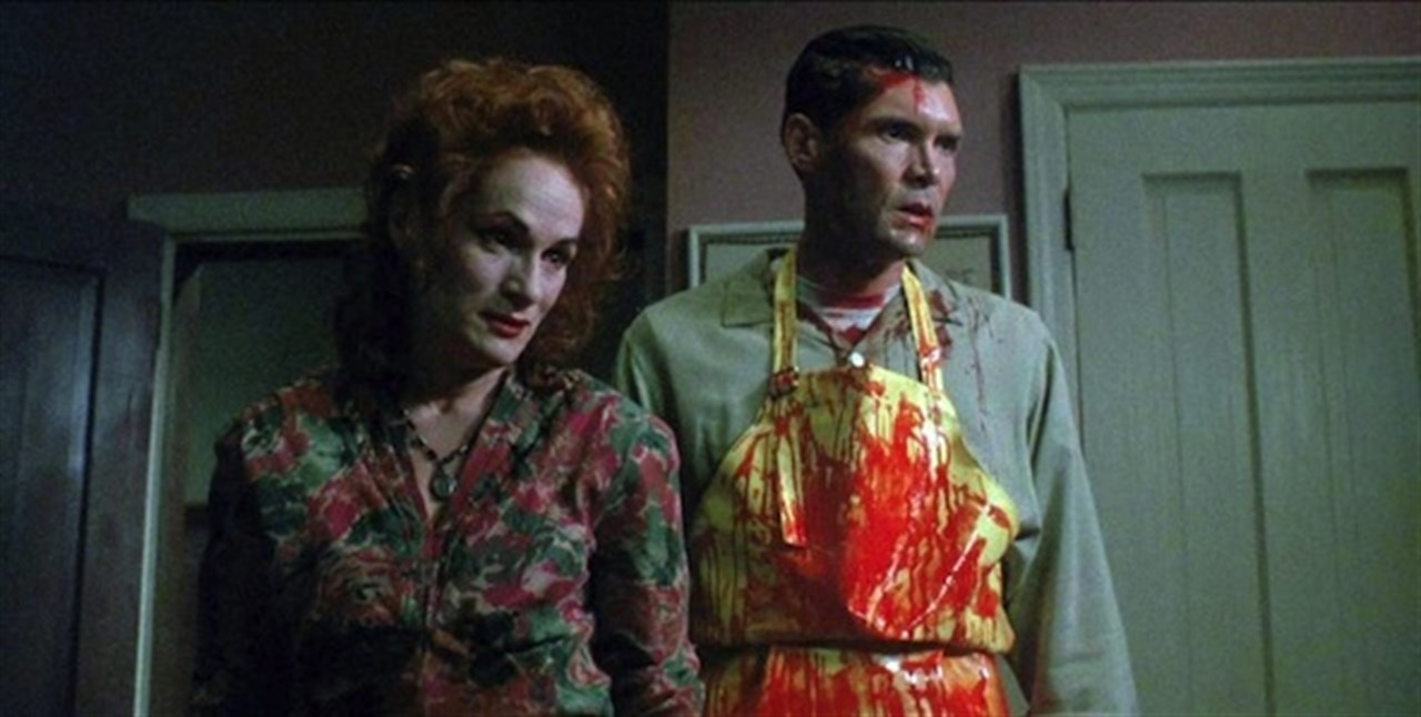 The two landlords - Woman (Wendy Robie) and Man (Everett McGill) in The People Under the Stairs (1991)