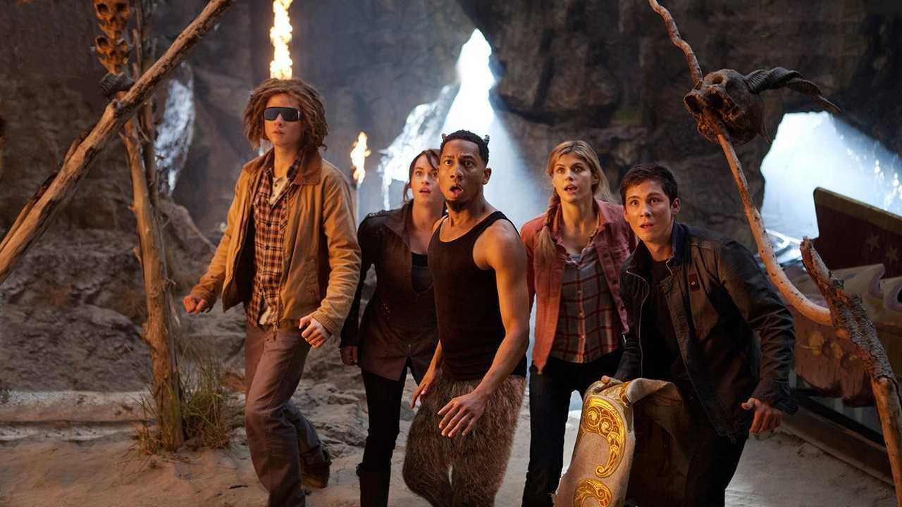 Tyson (Douglas Smith), Clarisse LaRue (Leven Rambin), Grover Underwood (Brandon T. Jackson), Annabeth Chase (Alexandra Daddario) and Percy Jackson (Logan Lerman) in Percy Jackson: Sea of Monsters (2013)
