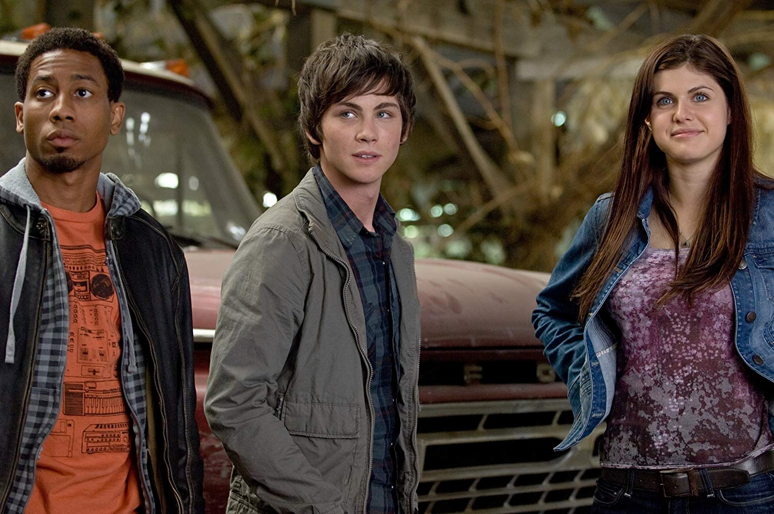 Grover (Brandon T. Jackson), Percy Jackson (Logan Lerman) and Annabeth (Alexandra Daddario) in Percy Jackson & The Olympians: The Lightning Thief (2010)