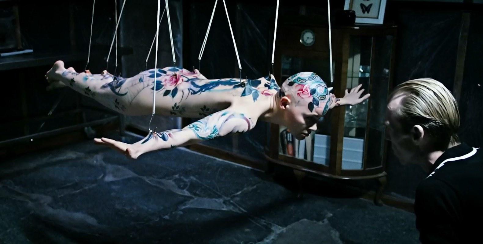 Richard Brake with tattoo subject Natalia Kostrzewa in Perfect Skin (2018)
