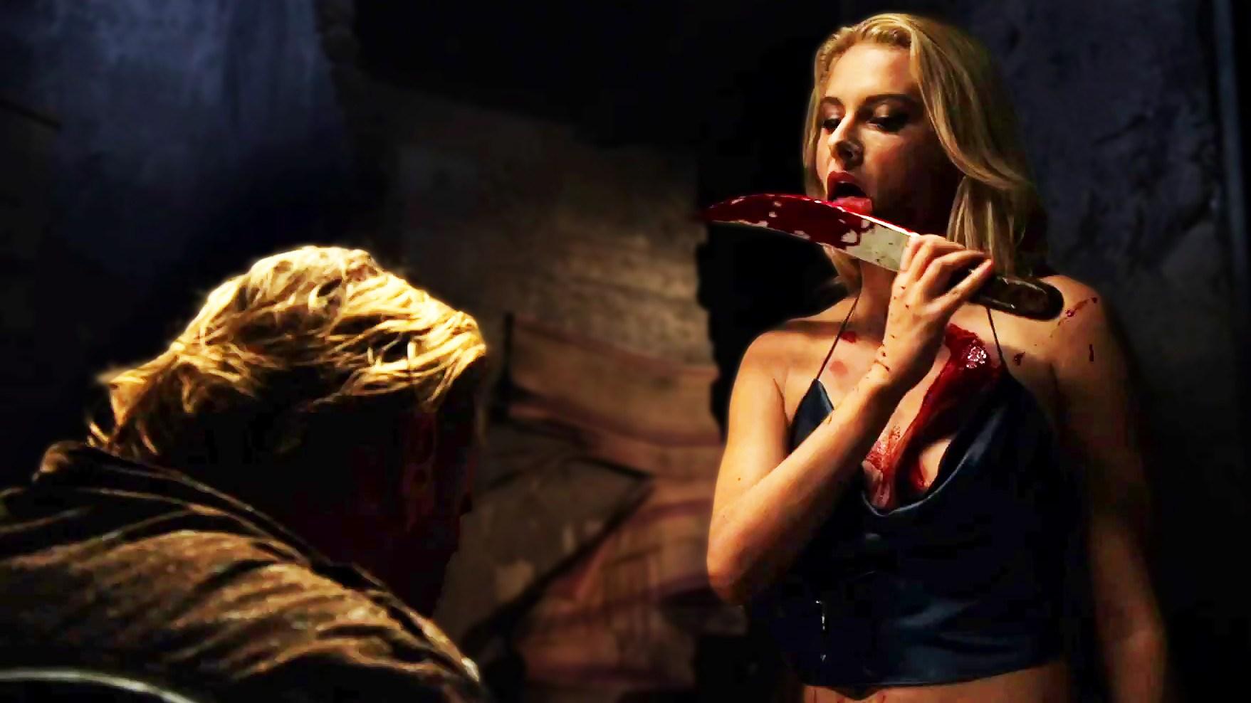 Jackie Moore tortures Bryan Gibson in Pernicious (2014)
