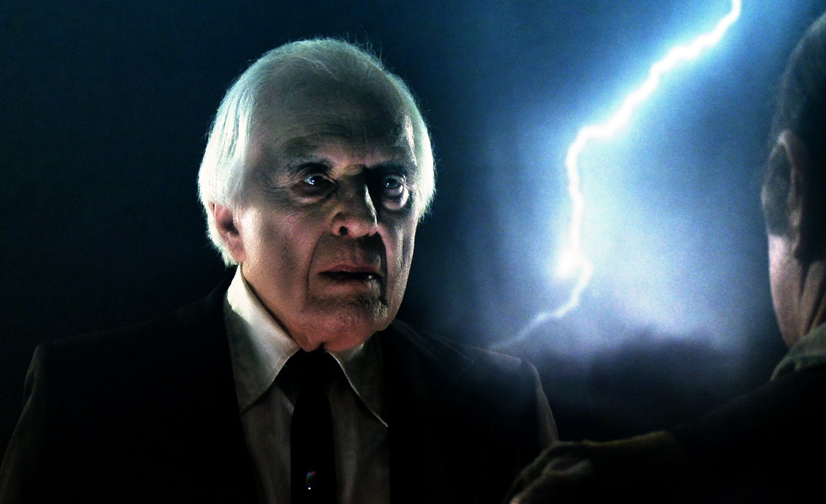 Angus Scrimm in his last ever appearance as The Tall Man in Phantasm: Ravager (2016)