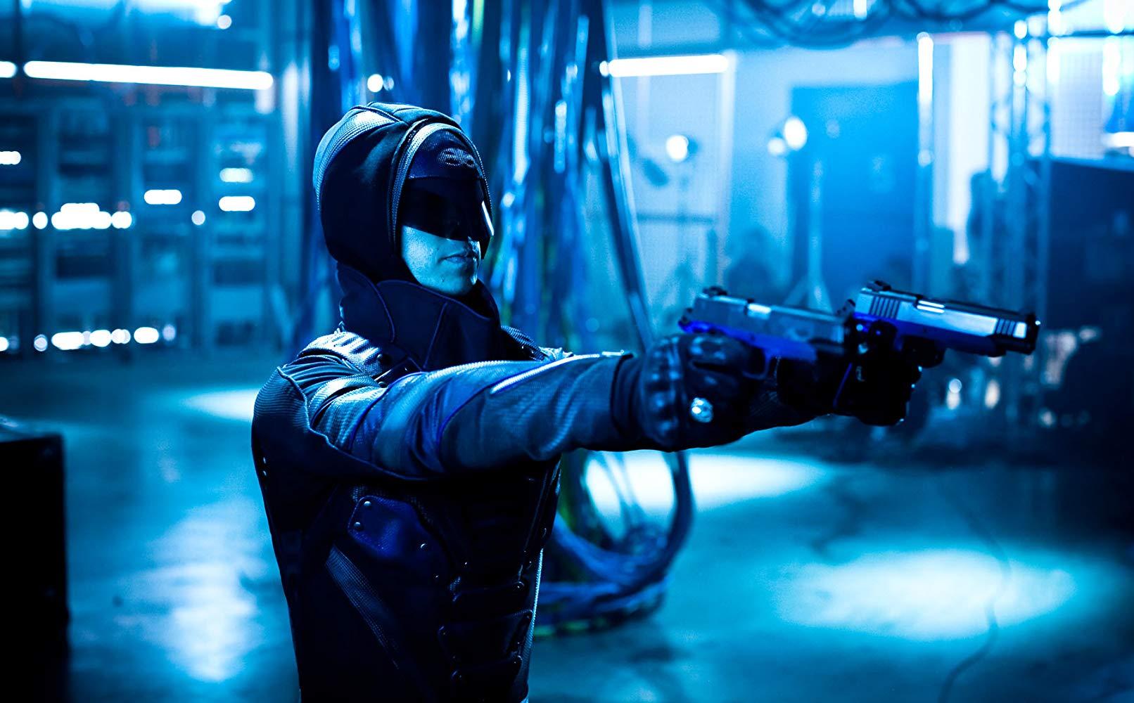 The Phantom (Ryan Carnes) in action in The Phantom (2009)