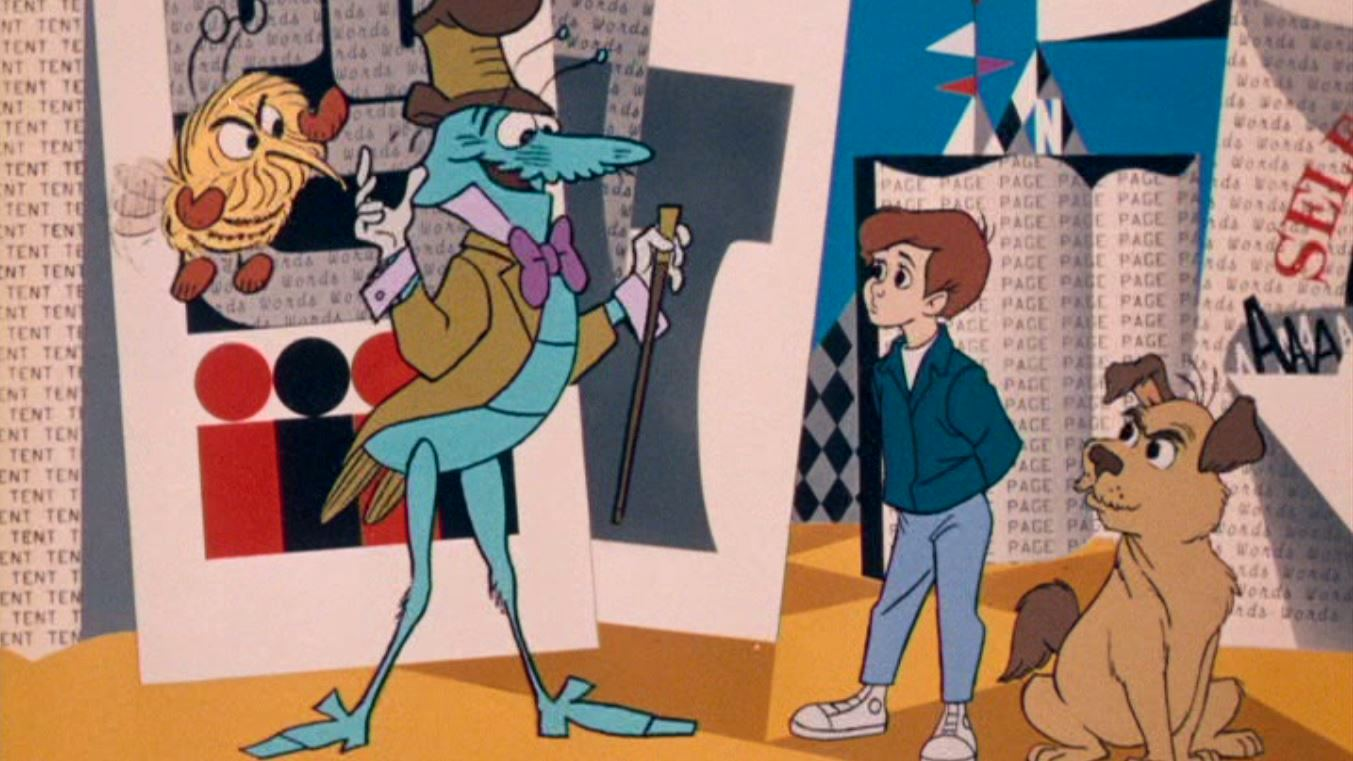 The Spelling Bee, The Humbug, Milo and Tock the dog in The Phantom Tollbooth (1970)