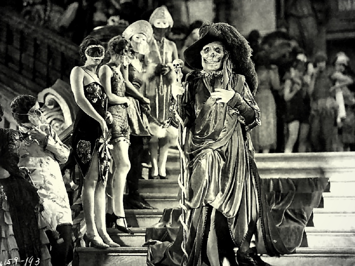 The Phantom's appearance as the Red Death in The Phantom of the Opera (1925)