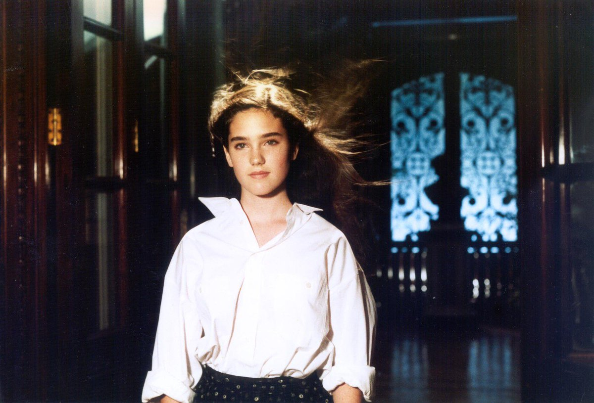 A teenage Jennifer Connelly with the ability to psychically communicate with insects in Phenomena (1985)
