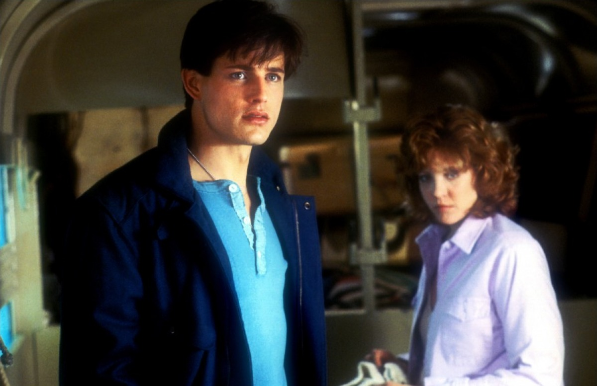 Cross-time love story - Michael Paré and Nancy Allen in The Philadelphia Experiment (1984)