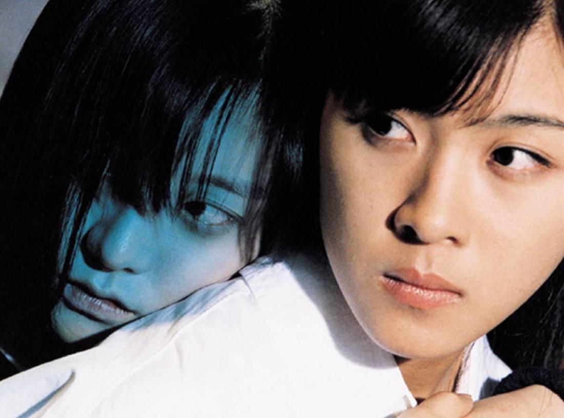 Ji-won Ha and ghost girl Ji-yeon Choi in Phone (2002)