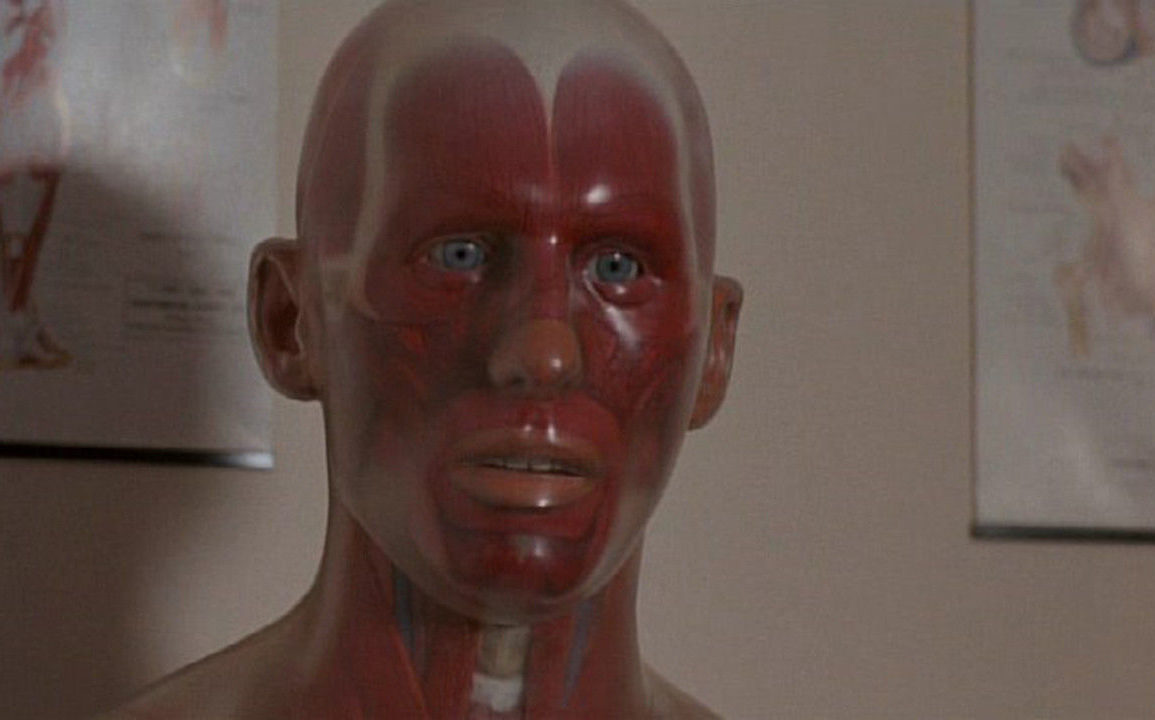 Pin the anatomical dummy in Pin (1988)