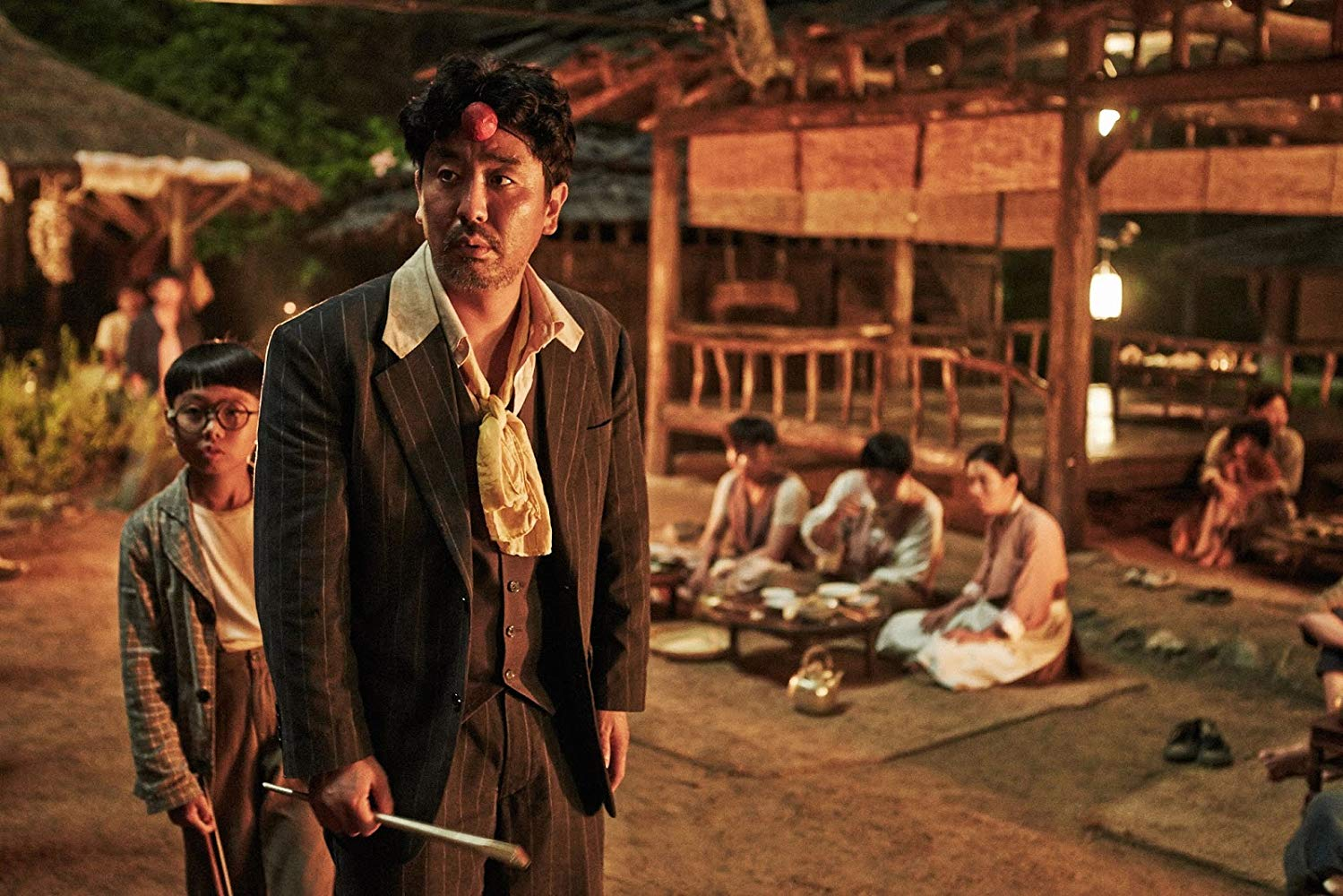 The Piper (Ryoo Seung-Ryong) and his son (Goo Seung-Hyeon) in The Piper (2015)