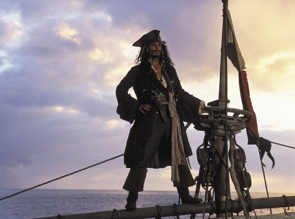 Johnny Depp as Captain Jack Sparrow in Pirates of the Caribbean: The Curse of the Black Pearl (2003)