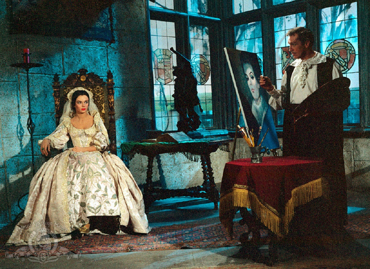 Vincent Price paints paints a portrait of wife Barbara Steele in Pit and the Pendulum (1961)