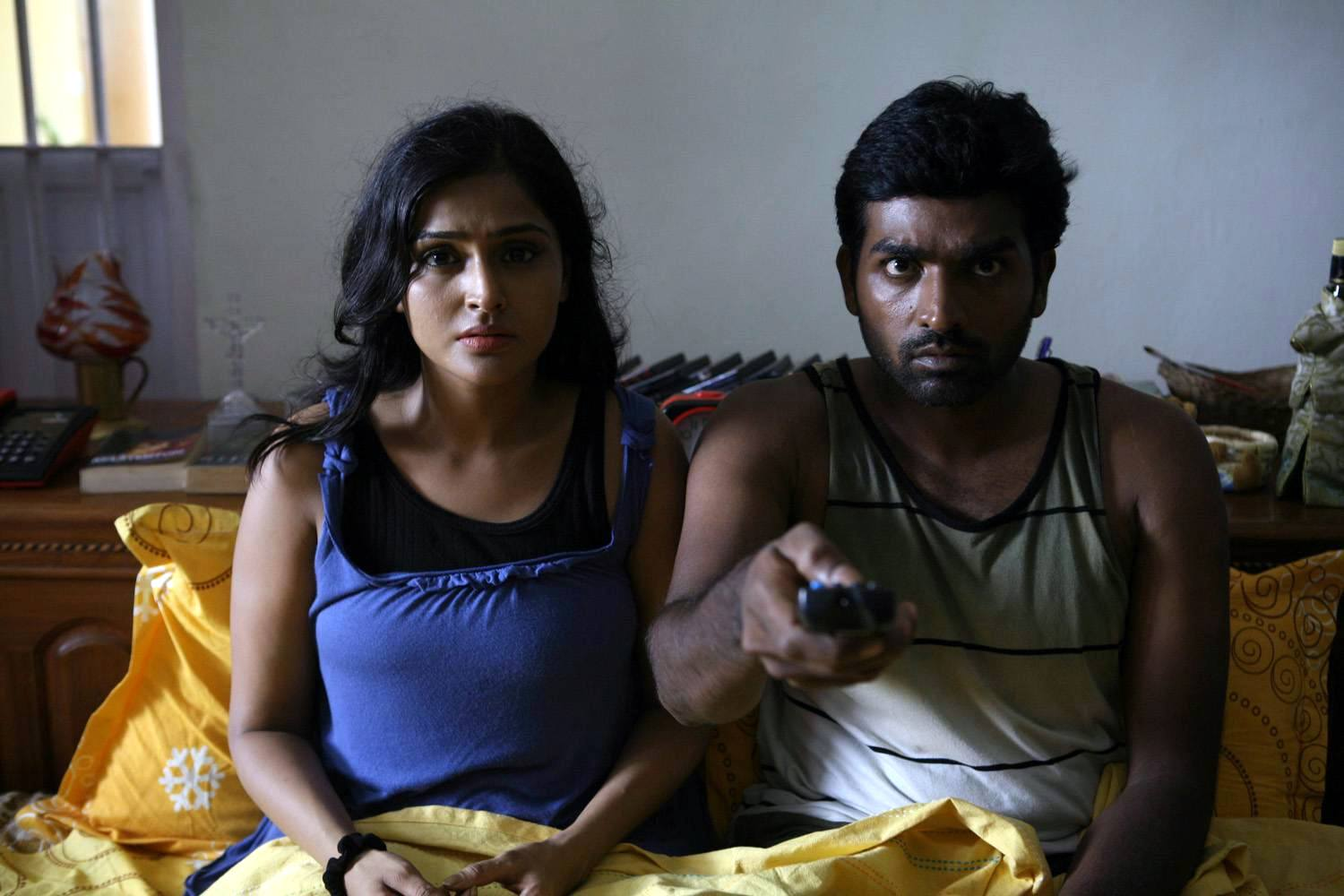 Ramya Nabeeshan and Vijay Sethupathi in Pizza (2012)