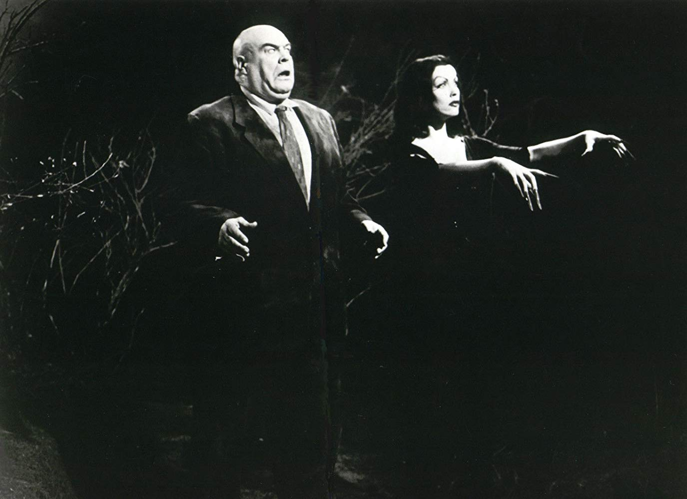 Tor Johnson and Vampira rise from the dead in Plan 9 from Outer Space (1959)