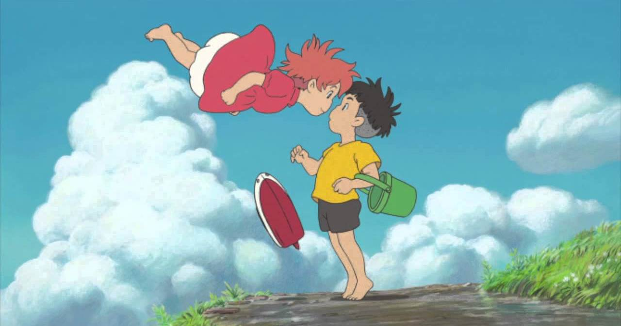 Ponyo appears to Sosuke in Ponyo on a Cliff By the Sea (2008)
