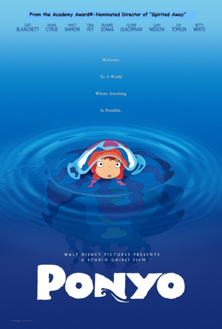 Ponyo on a Cliff By the Sea (2008) poster