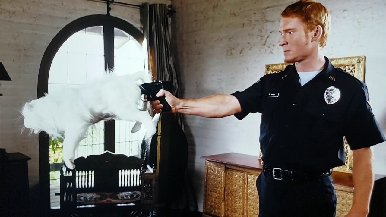 Zack Ward as Postal Dude on a shooting spree in Postal (2007)