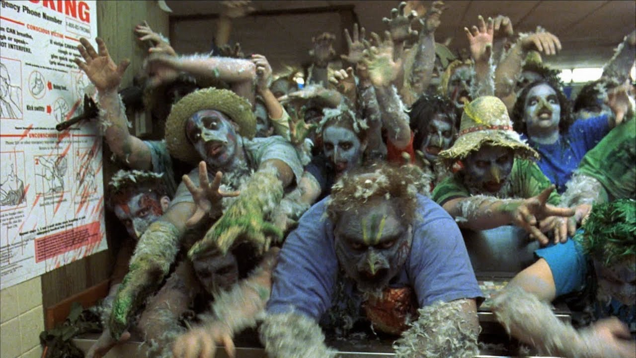 The fast food outlet overrun by zombie chicken mutations in Poultrygeist Night of the Chicken Dead (2006)