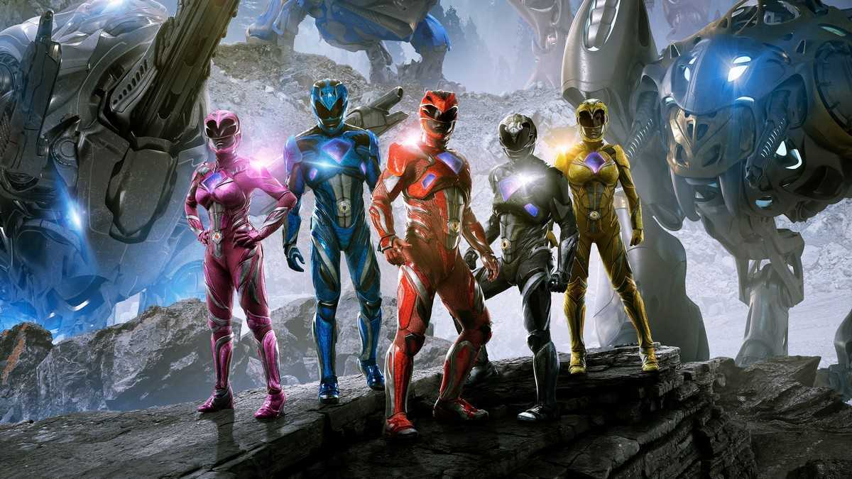 The new Power Rangers (publicity shot) from Power Rangers (2017)