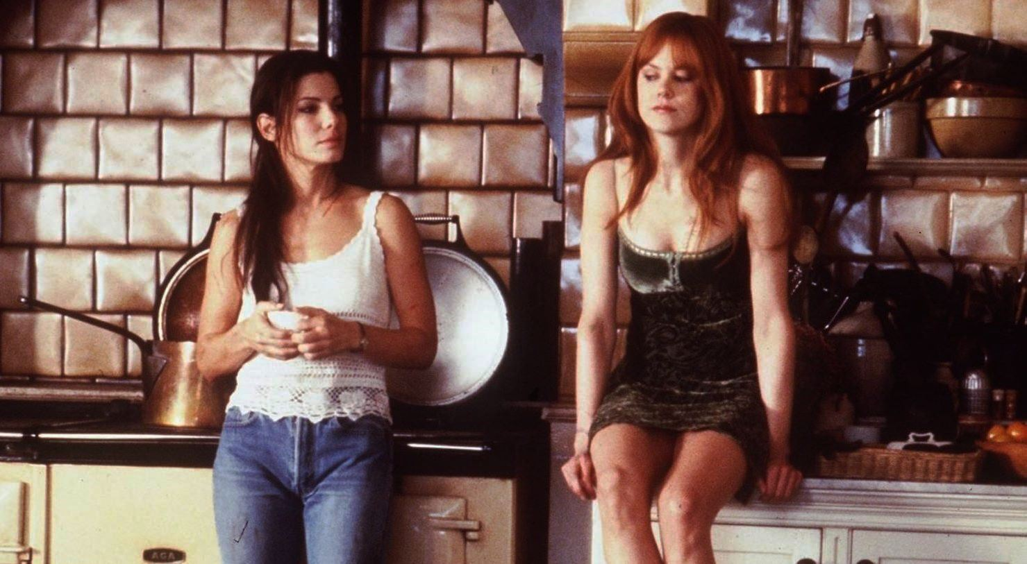 Sandra Bullock and Nicole Kidman as sisters from a family of witches in Practical Magic (1998)
