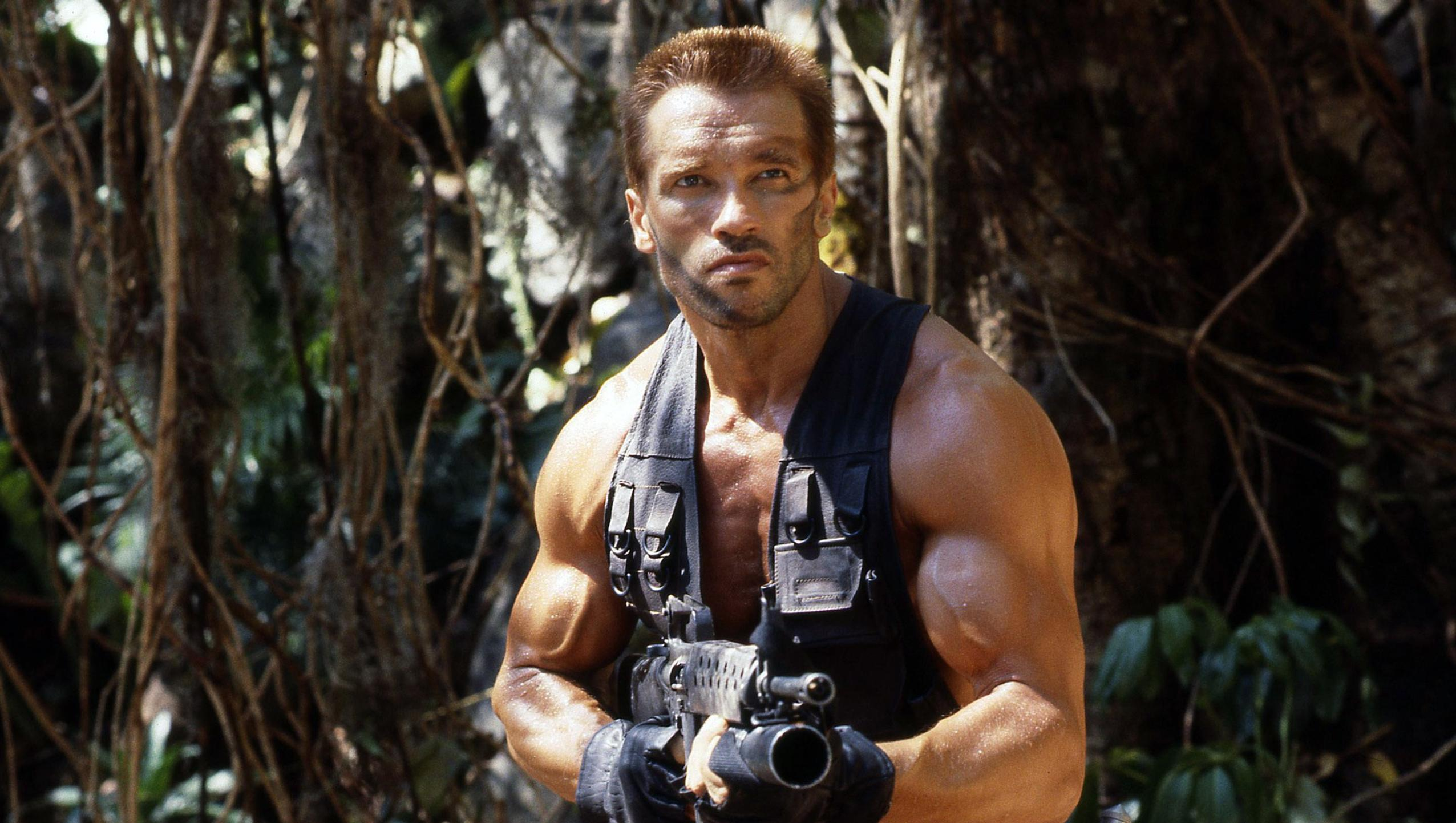 Arnold Schwarzenegger hunted in the jungle in Predator (1987)