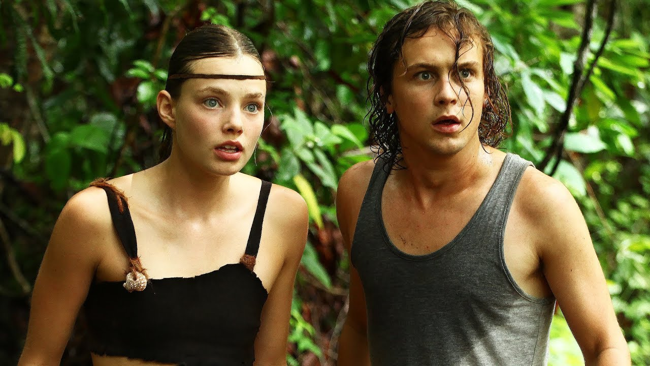 Logan Miller and wild girl Kristine Froseth facing horrors on a tropical island in Prey (2019)